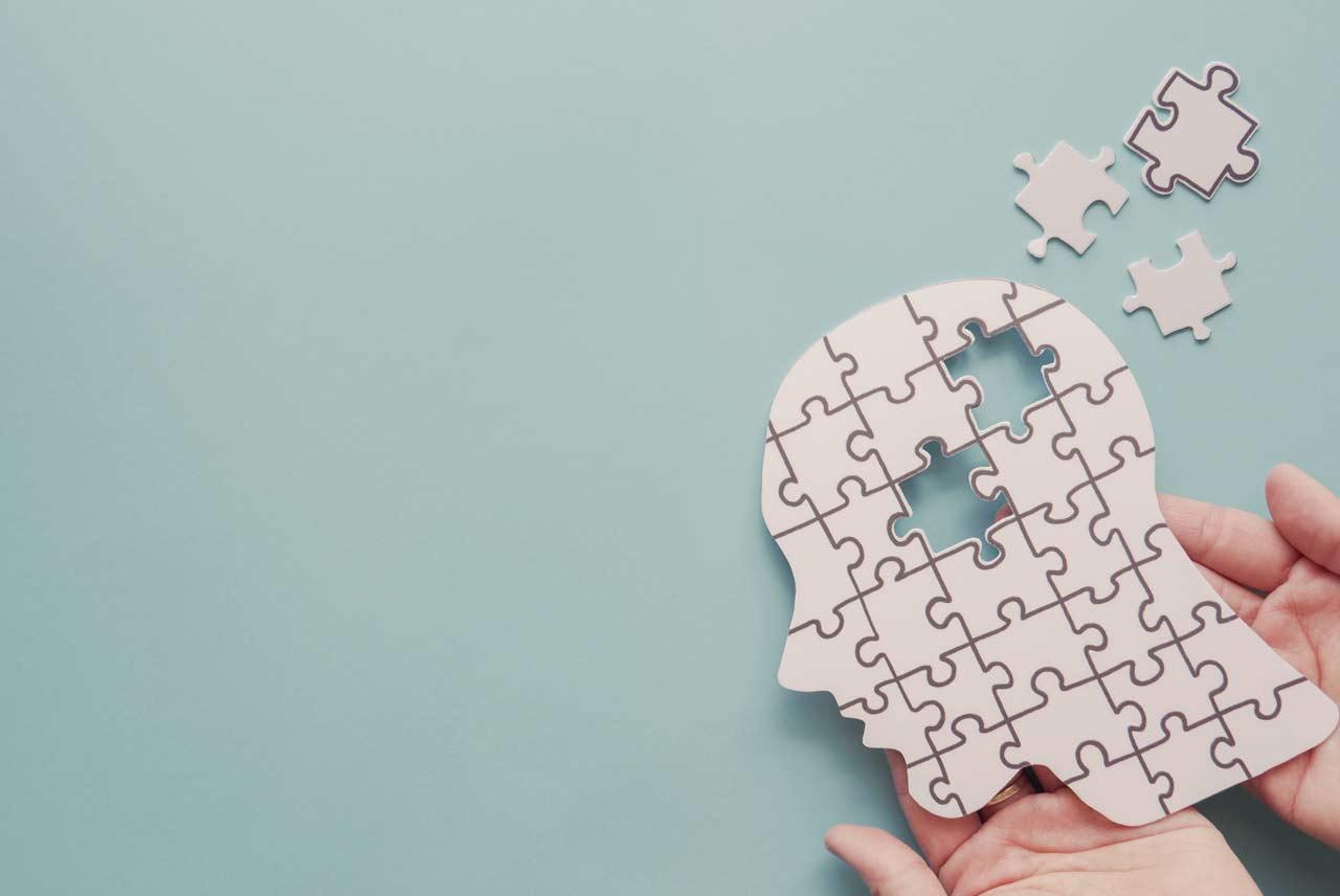 Puzzle a forma di testa - Sostegno psicologico individuale - Daniele Gregorio Psicologo